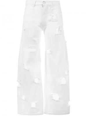 Рваные джинсы Mia Rejina Pyo. Цвет: белый