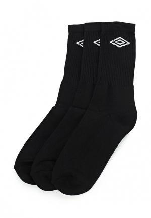 Комплект носков 3 пары Umbro. Цвет: черный