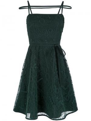 Straps design short dress Gloria Coelho. Цвет: зелёный