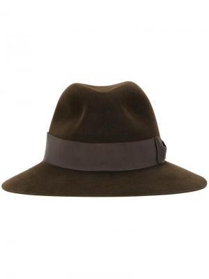 Фетровая шляпа с широкой лентой Kijima Takayuki. Цвет: коричневый