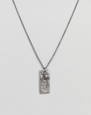 Seven London Серебристое ожерелье с подвеской-якорем. Цвет: серебряный