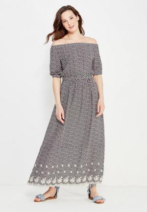 Платье Indiano Natural. Цвет: черно-белый