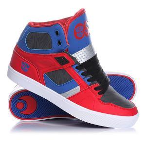 Кеды кроссовки высокие  Nyc 83 Vulc Optimus Prime Osiris. Цвет: красный,синий,серый