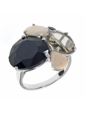 Кольцо BALEX. Цвет: черный, серебристый, светло-коричневый, персиковый
