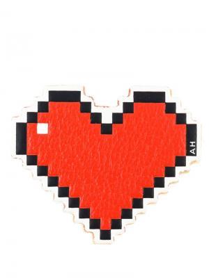 Стикер в виде сердца Anya Hindmarch. Цвет: красный
