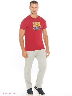 Футболка Barcelona Atributika & Club. Цвет: красный