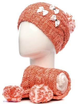 Шапка+шарф Marhatter. Цвет: оранжевый