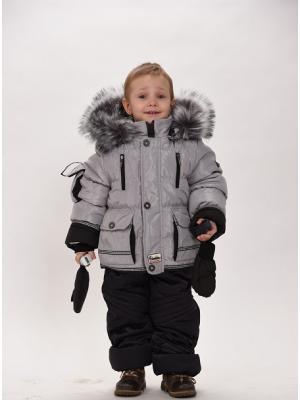 Куртка+брюки для мальчиков TOPKLAER. Цвет: серый