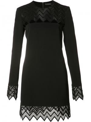 Платье с прозрачными панелями David Koma. Цвет: чёрный