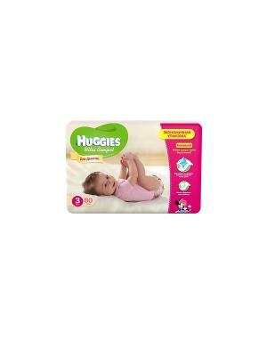 Подгузники Ultra Comfort Размер 4 8-14кг 80шт для девочек HUGGIES. Цвет: белый