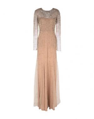 Длинное платье JENNY PACKHAM. Цвет: песочный