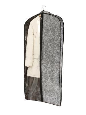 Чехол для шубы (для хранения) 60х160х10см  Ажур 229 COFRET. Цвет: серый, черный