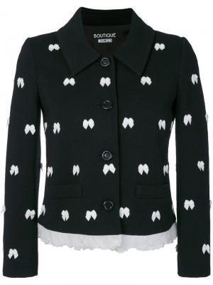 Пиджак с бантами Boutique Moschino. Цвет: чёрный