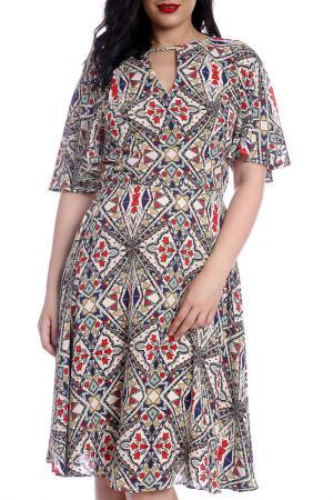 Платье Emma Monti. Цвет: мультицвет
