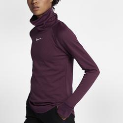 Женская футболка для гольфа с длинным рукавом  AeroReact Warm Nike. Цвет: пурпурный