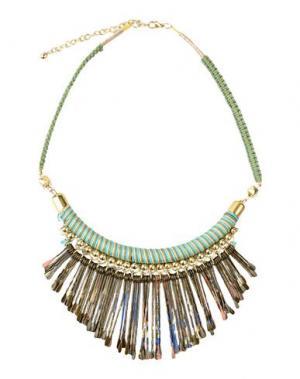 Ожерелье DETTAGLI. Цвет: зеленый-милитари