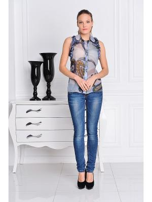 Блуза Katerina Bleska&Tamara Savin. Цвет: серо-голубой