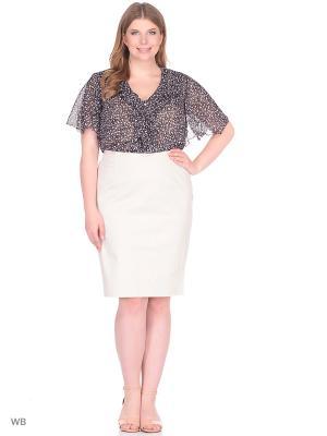 Блузка BERKLINE. Цвет: черный, розовый