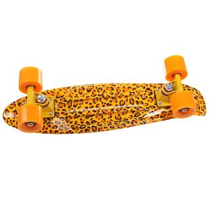 Скейт мини круизер  Leo Yellow/Orange 22 (55.9 см) Turbo-FB. Цвет: желтый,оранжевый