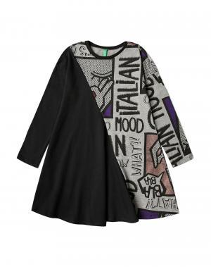 Платье Benetton. Цвет: черный