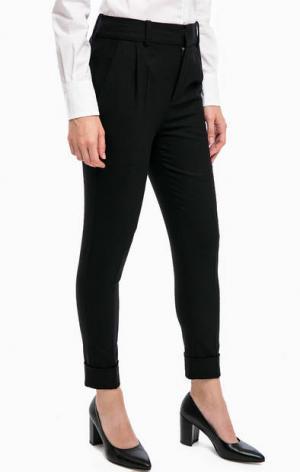 Классические укороченные брюки DRYKORN. Цвет: черный
