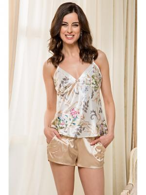 Пижама MIA-MELLA. Цвет: молочный, золотистый