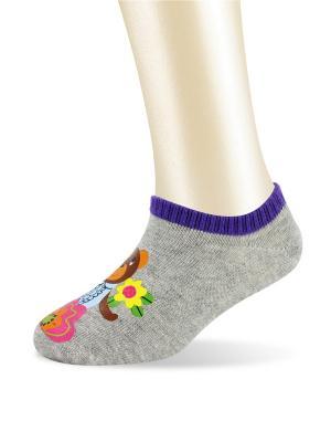 Носки Glamuriki. Цвет: серый