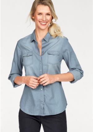 Джинсовая блузка CHEER. Цвет: синий потертый