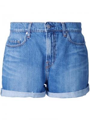 Джинсовые шорты Stevie Nobody Denim. Цвет: синий