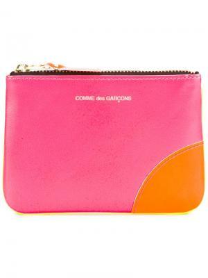 Кошелек Super Fluo Comme Des Garçons Wallet. Цвет: розовый и фиолетовый