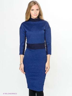 Платье ELENA FEDEL. Цвет: темно-синий