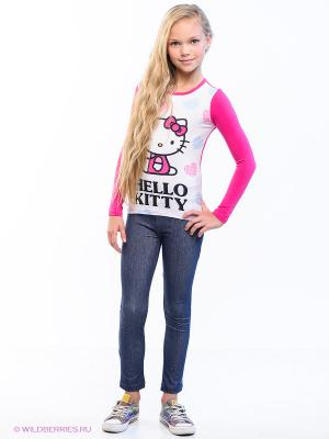 Лонгслив Hello Kitty. Цвет: фуксия, белый