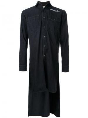 Рубашка с удлиненным подолом Maison Mihara Yasuhiro. Цвет: чёрный