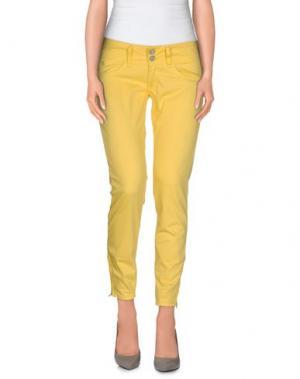 Повседневные брюки LE TEMPS DES CERISES. Цвет: желтый