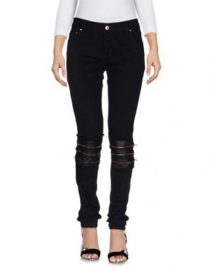 Джинсовые брюки AVELON. Цвет: черный