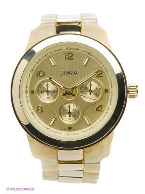 Часы Bora. Цвет: золотистый