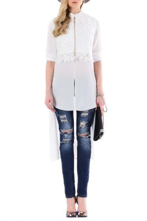 Блузка JUNONA. Цвет: белый