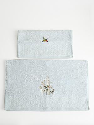 Комплект полотенец A and C Collection. Цвет: голубой