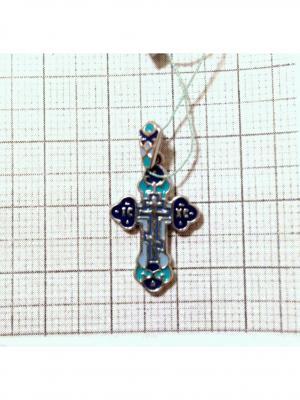 Православный крест KU&KU. Цвет: синий,морская волна,голубой