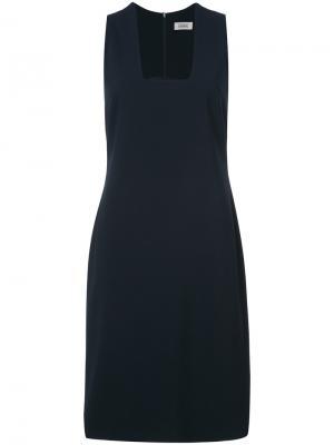 Платье с квадратным вырезом Nomia. Цвет: синий