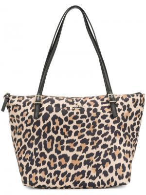 Большая сумка-шоппер Kate Spade. Цвет: коричневый