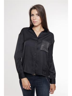 Блузка Gaudi. Цвет: черный