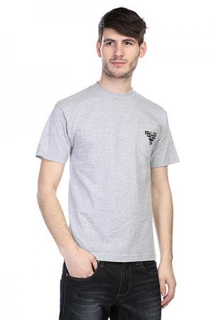 Футболка  Feedback Pocket Tee Heat Grey/Black Fallen. Цвет: черный