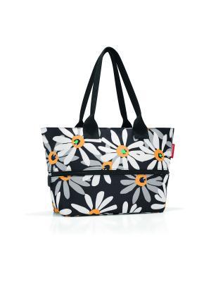 Сумка Shopper E1 margarite Reisenthel. Цвет: черный,оранжевый,белый