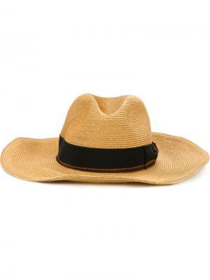 Шляпа с контрастной лентой Filù Hats. Цвет: телесный