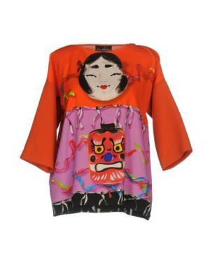 Блузка GIULIA ROSITANI. Цвет: красный