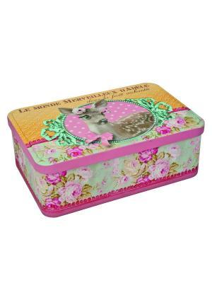 Контейнер для хранения сахара 20х13х7 см Мир Адели Orval. Цвет: желтый, зеленый, розовый