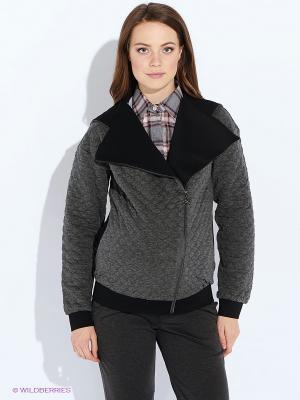 Куртка MammySize. Цвет: серый