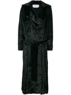 Двубортное пальто-тренч Gabriela Hearst. Цвет: чёрный