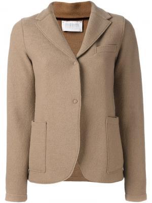 Однобортный пиджак Harris Wharf London. Цвет: телесный